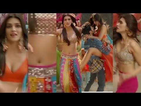 Kriti Sanon hot navel boobs cleavage legs lips Luka Chuppi Poster Lagwa Do edit zoom slow motion thumbnail