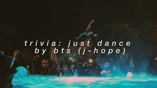 """trivia: just dance"" - bts (j-hope) but you're at a pool party"