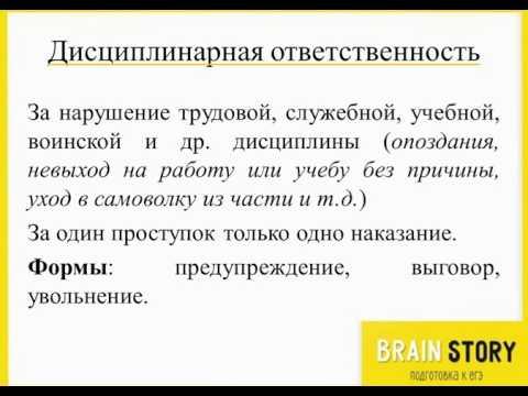 7.4.4  Виды правонарушений и виды юридической ответственности  Трудовые