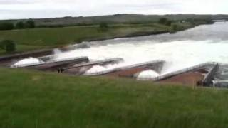 Lake Oahe stilling basin on May 29th 2011 -  flooding Pierre SD