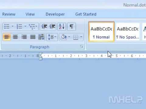 How to edit the default document template Word - YouTube
