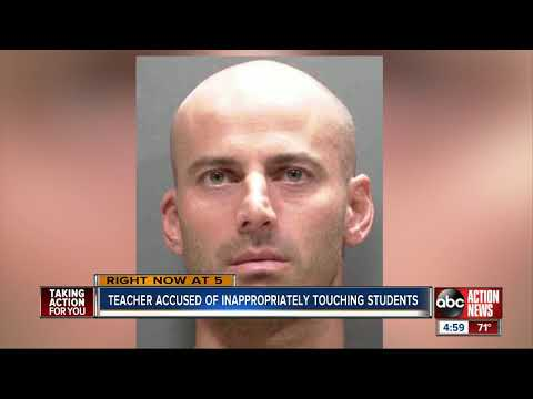 Sarasota middle school teacher arrested for inappropriately touching students