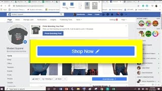 How to add facebook shop now button on business page