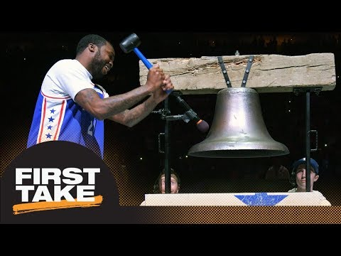 Stephen A. and Max react to Meek Mill attending 76ers game after prison release   First Take   ESPN