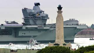 HMS QUEEN ELIZABETH - from first block to first entry into Portsmouth