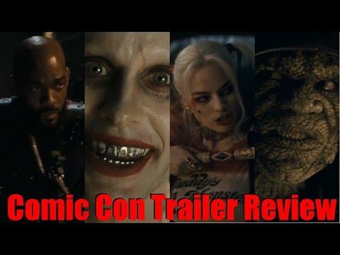 Suicide Squad Comic Con Trailer Review