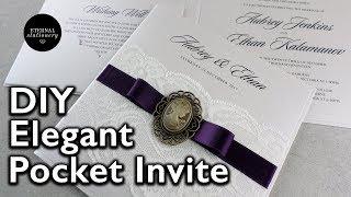 How to make a vintage lace pocket invitation - DIY wedding invitation - Eternal Stationery