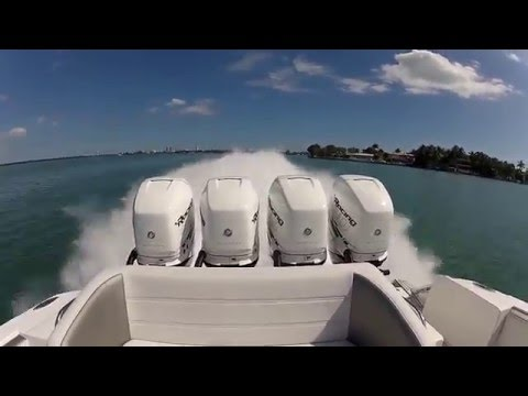 Mercury Racing Verado 400R Outboard Engines running over 90 MPH on Nor-Tech 390