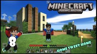 Minecraft Pocket Edition Indonesia - Rumah Baru Dengan Kolam Renang  #Survival8