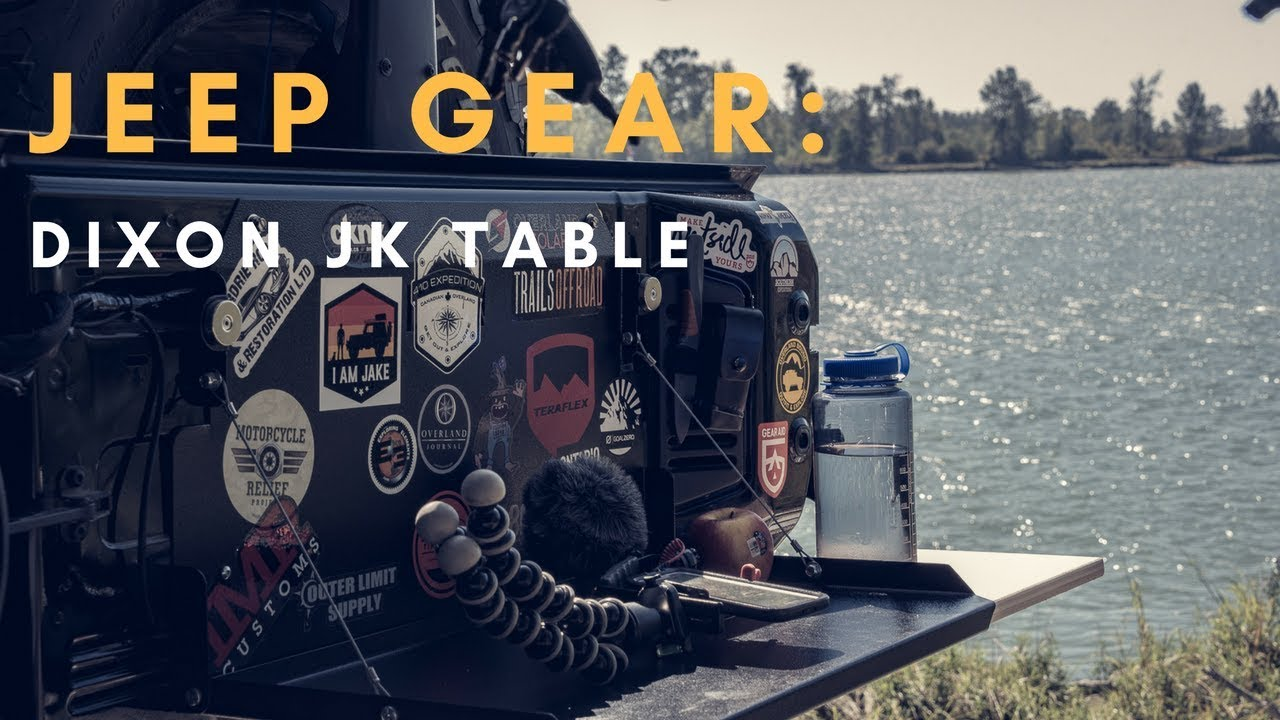 Expedition jeep build tailgate table vagabond expedition