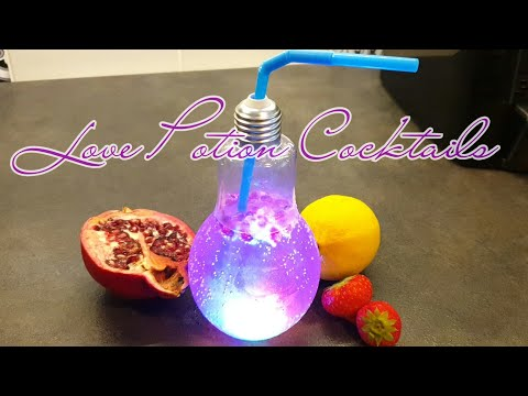How To Make Love Potion Cocktail With Basic Flairtending-Amazing Holloween Drinks