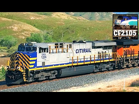 Freight Trains in the Tehachapi Pass!