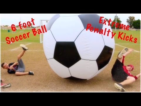 EXTREME PENALTY KICKS With 6 FOOT SOCCER BALL