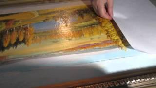 Ремонт масляной  картины(мою холст,крашу раму)(, 2015-12-12T21:21:14.000Z)