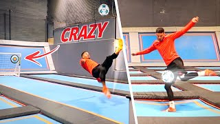 CRAZY TRAMPOLINE FOOTBALL CHALLENGES! 😱⚽️💥
