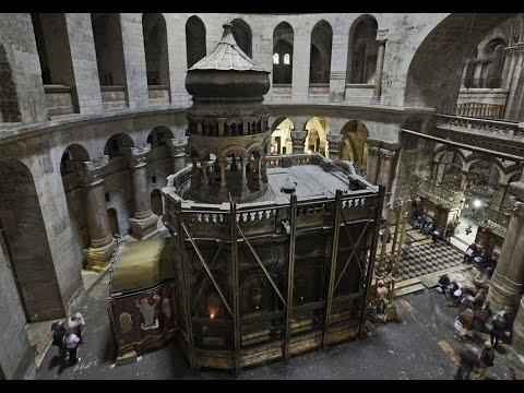 Уникальные кадры храма Гроба Господня в Иерусалиме