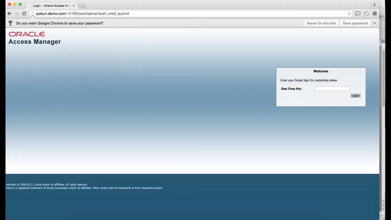 OAM 11g R2 PS2 & Oracle Mobile Authenticator Integrated Application DEMO