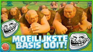 IS DIT DE MOEILIJKSTE BASIS OOIT?! xD - Clash of Clans