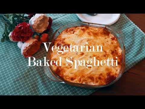 Vegetarian Baked Spaghetti │ Woman Who Bakes