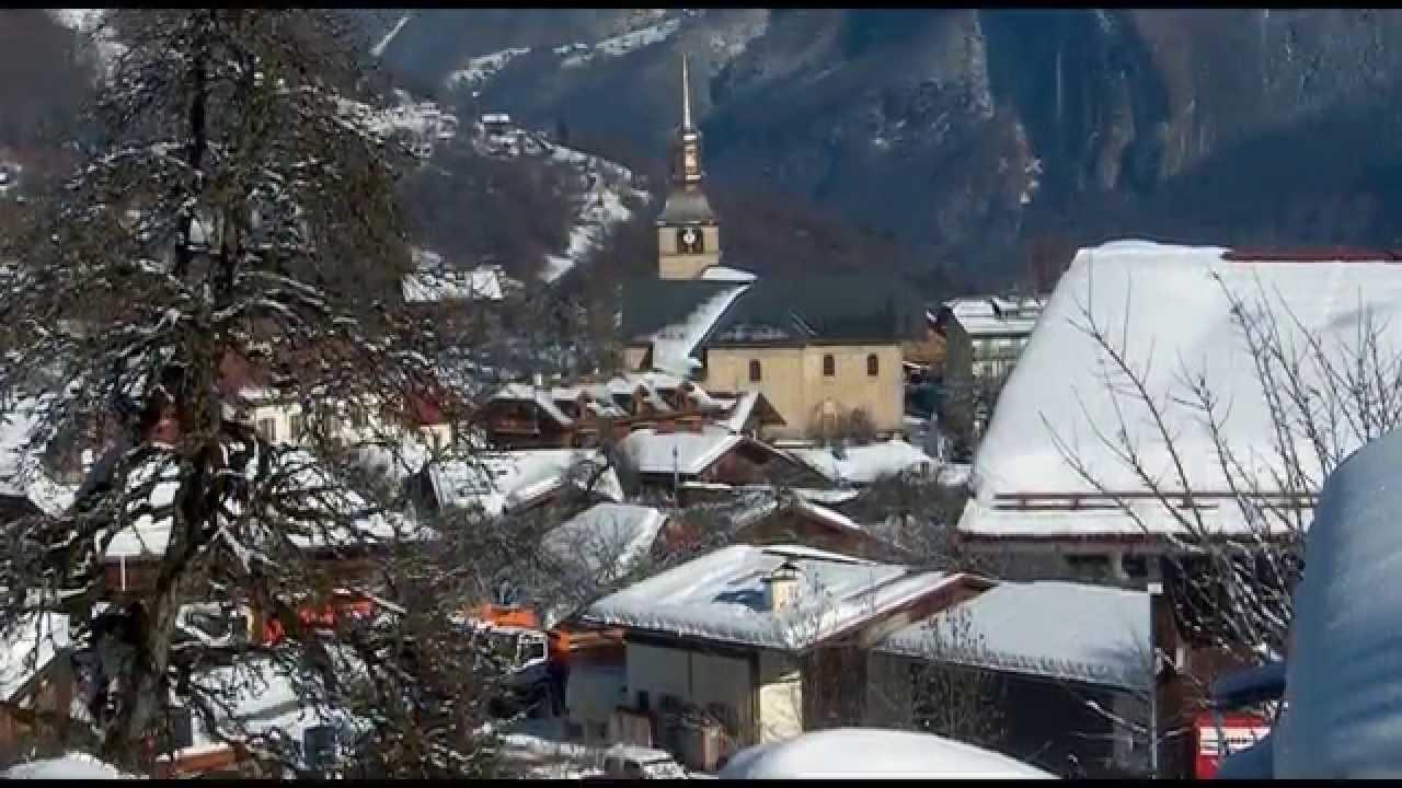 Le village de cordon sous la neige haute savoie youtube - Meubles de montagne haute savoie ...