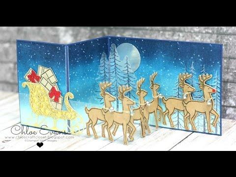 Double Z Fold - Santa's sleigh