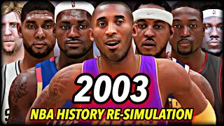 I Reset The NBA To 2003 And Re-Simulated NBA History... and this is what happened.