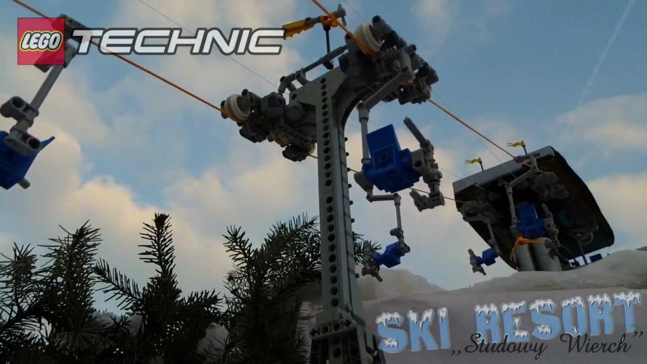 LEGO SKI RESORT  Technic ChairLift  YouTube