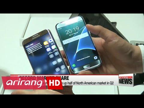 Korean smartphone makers make up half of North American market in Q2