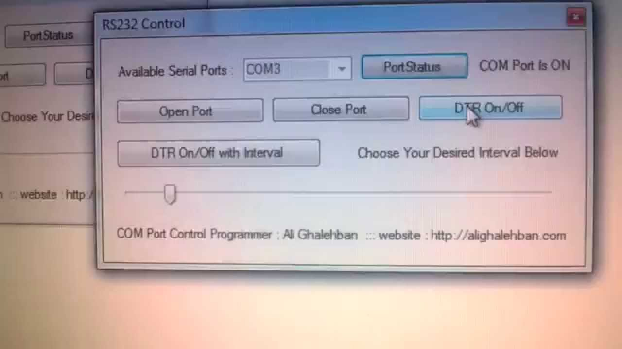 Net Serial Port Programming Project Youtube Rs232 Pic Programmer
