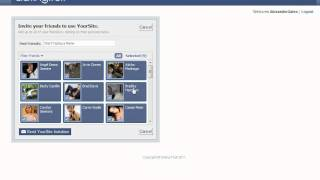 Free dating sites - How to send invitations to my friends on Facebook from DatingFruit.com?