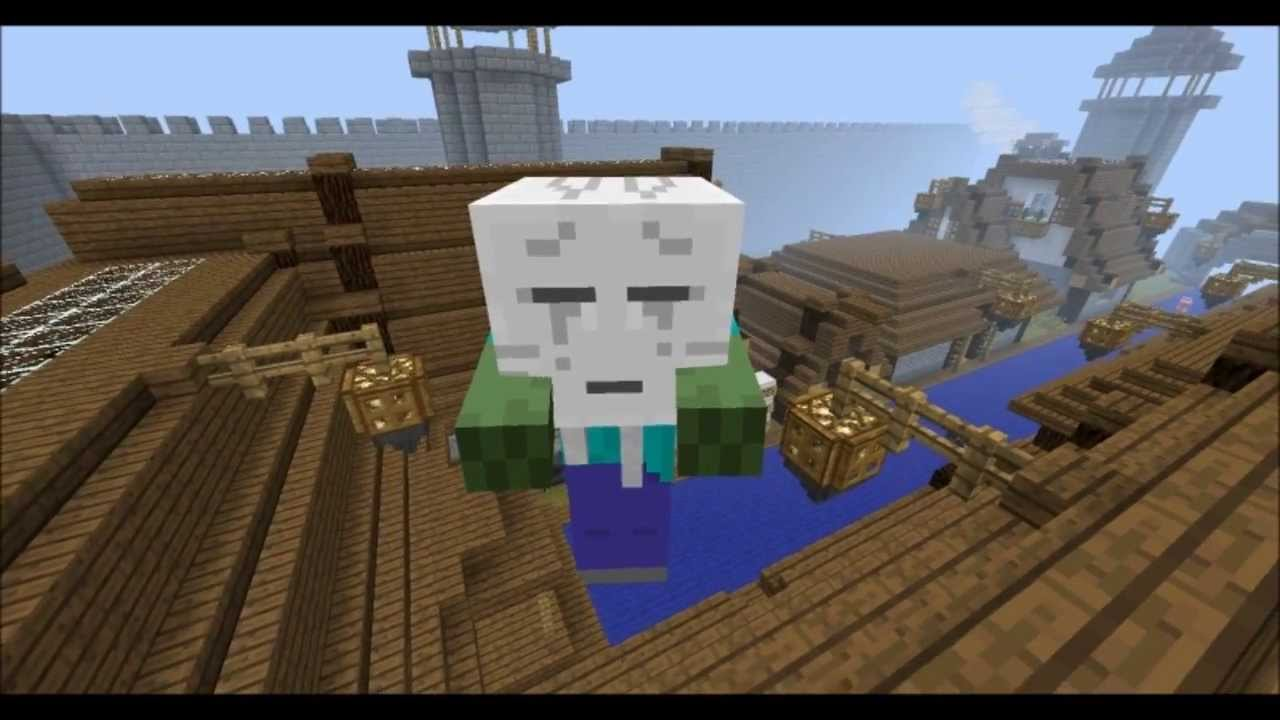 Minecraft - Ghast-Zombie Boss Mob for Adventure Maps - YouTube