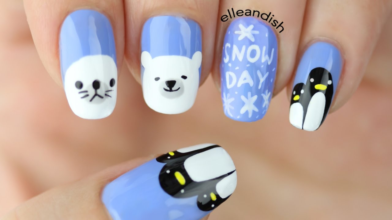 ❅HOLIDAY GIVEAWAY #3 + ARCTIC and ANTARCTIC ANIMAL Nail Art❅ - ❅HOLIDAY GIVEAWAY #3 + ARCTIC And ANTARCTIC ANIMAL Nail Art❅ - YouTube