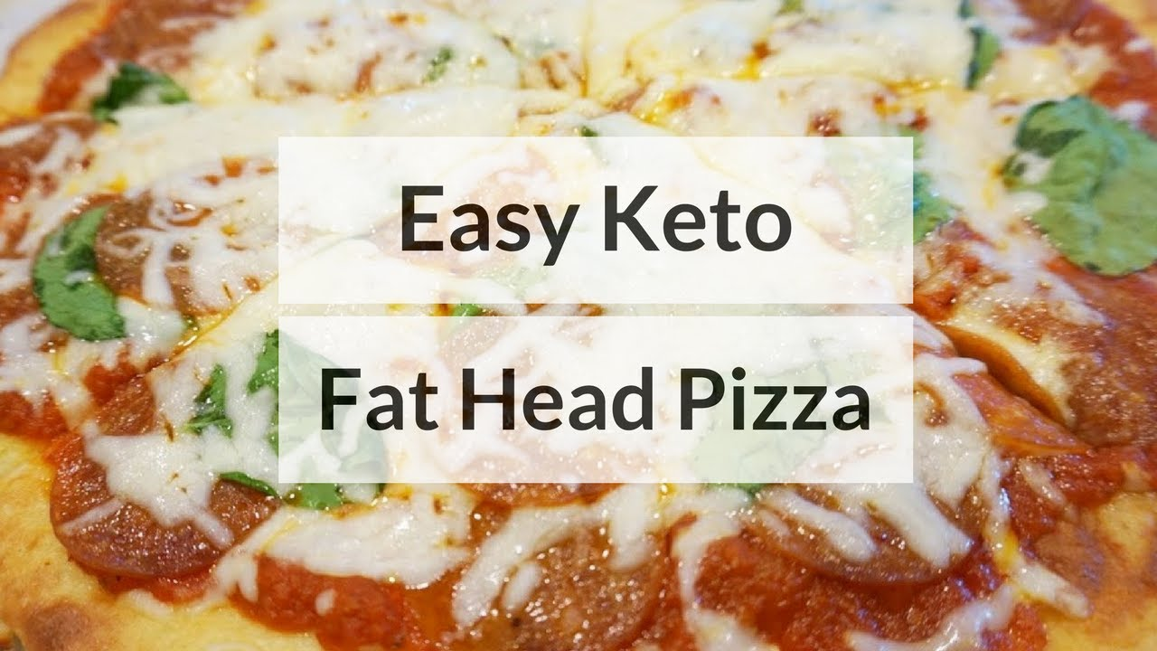 The Best Keto Fat Head Pizza - YouTube