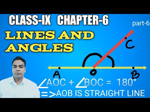If sum of two adjacent angles is180° then the non common arms of an angle is straight line class 9
