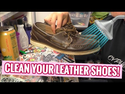 HOW TO CLEAN LEATHER BOAT SHOES AT HOME! (CHEAP!)