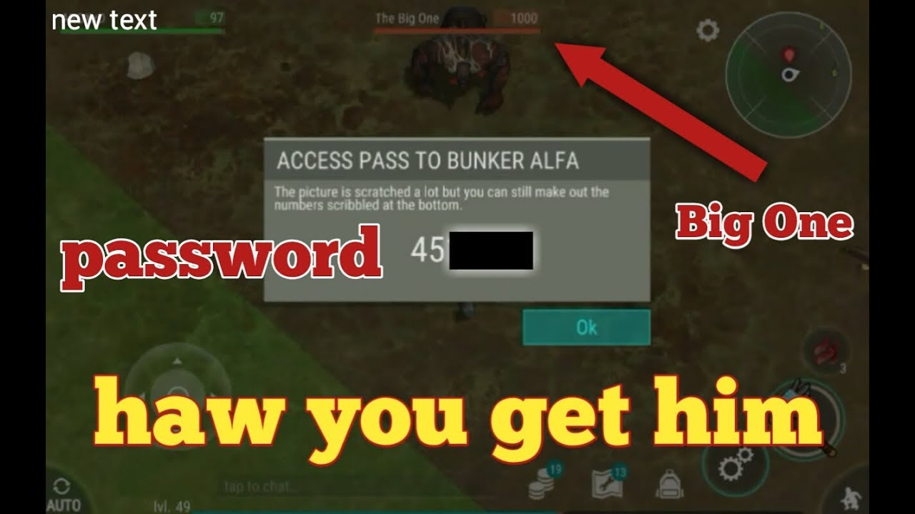 New place to find code password bunker alfa onther for Piso 4 bunker alfa