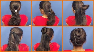 Anjali's Bun Hairstyles Part 21 | 6 Hairstyles for Short Hairs | Hairstyle Tutorial