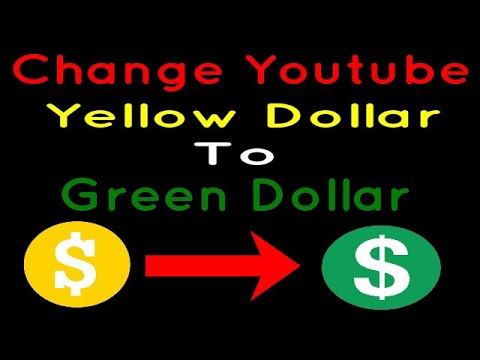 How to Change Yellow Dollar Icon to Green Dollar Icon on Youtube |100%  Working |