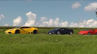 Lamborghini Trio Teil 37 Filmausschnitte: A60, Eifel, Geflügelhof, Mosel