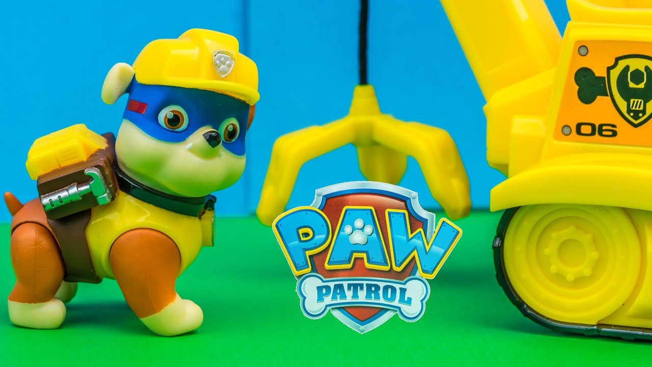 Unboxing The Paw Patrol Super Hero Rubble Crane And