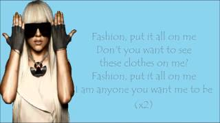 Lady Gaga - Fashion Lyrics Video