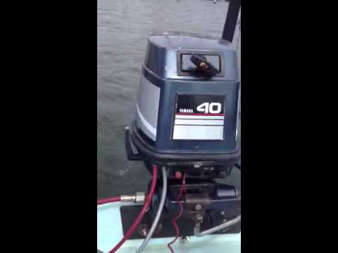 Starting Yamaha 40hp outboard