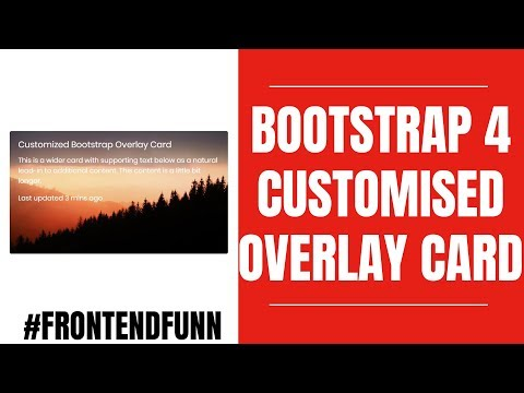 Bootstrap 4.2 Image Overlay Card Customized Animation Tutorial - Web Development thumbnail