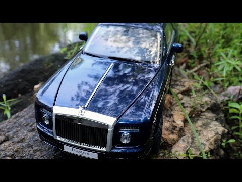 unboxing-of-miniature-rolls-royce-phantom-coupe-1:18-peacock-blue-diecast-scale-model-car