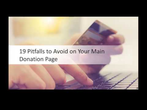 19 Pitfalls to Avoid on Your Main Donation Page with Jon Powell and Tim Kachuriak
