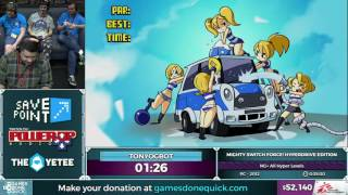 Mighty Switch Force! HyperDrive Edition by TonyOgbot in 0:29:59 - SGDQ2016 - Part 6