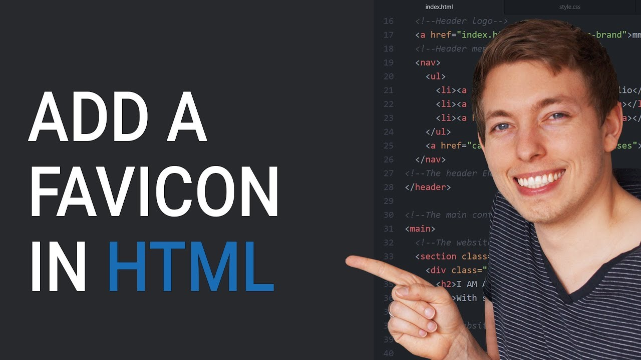 how to make a favicon html