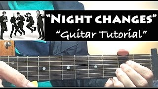 """NIGHT CHANGES"" - One Direction Guitar Tutorial (Lesson) with Chords"