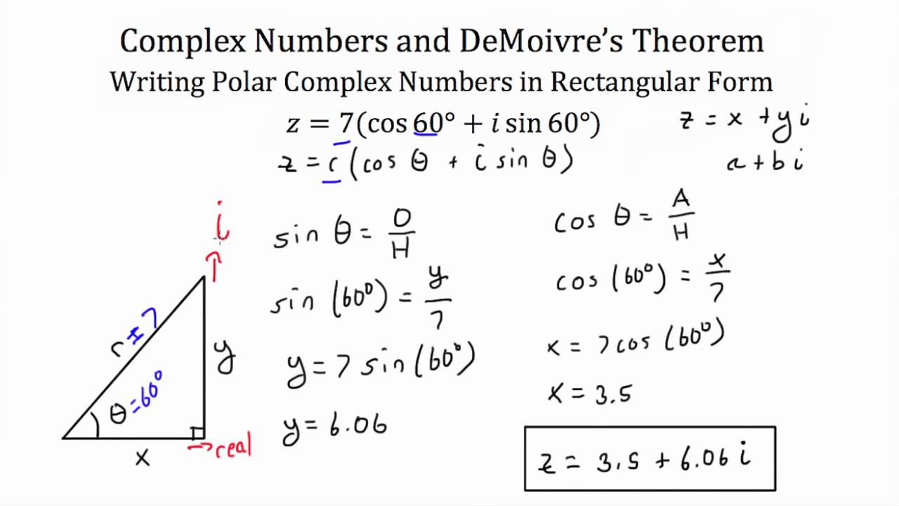 Understanding and using demoivres theorem youtube falaconquin