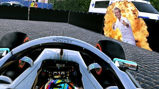 F1 2019 CAREER MODE Part 70: DOING A ROSBERG AT MONACO! CONTROVERSY!